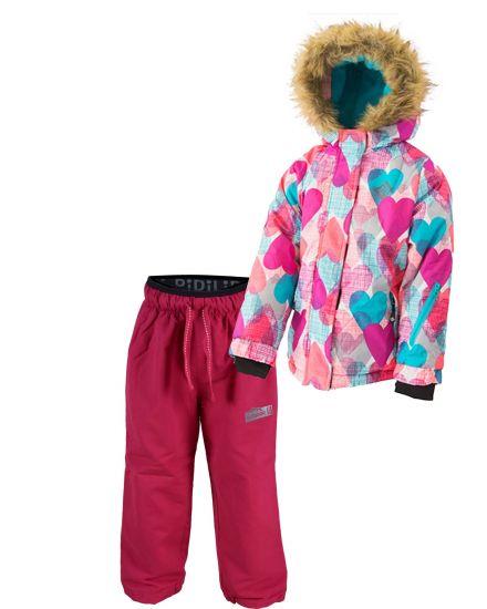 Зимний комплект (куртка+штаны на флисе) Любимка Pidilidi розовые