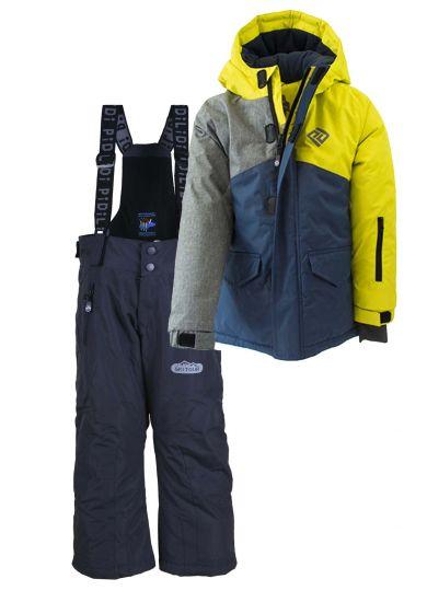 Зимний термо комплект (куртка+полукомбинезон) Мейнстрим для мальчика PIDILIDI с черными штанами