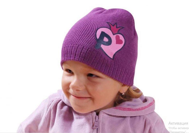 Демисезонный комплект (шапка+варежки) для девочки Pidilidi