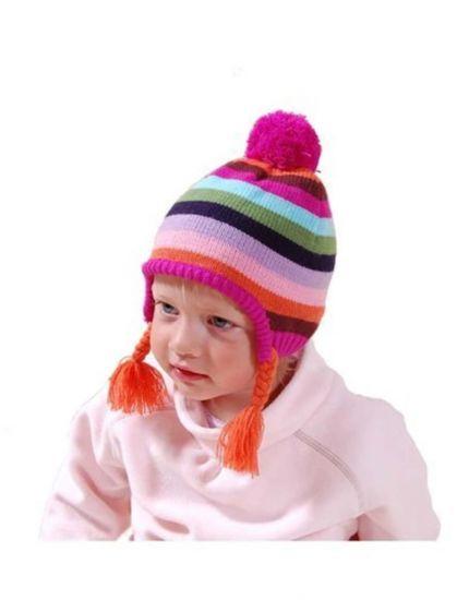 Демисезонная шапка для девочки Bugga