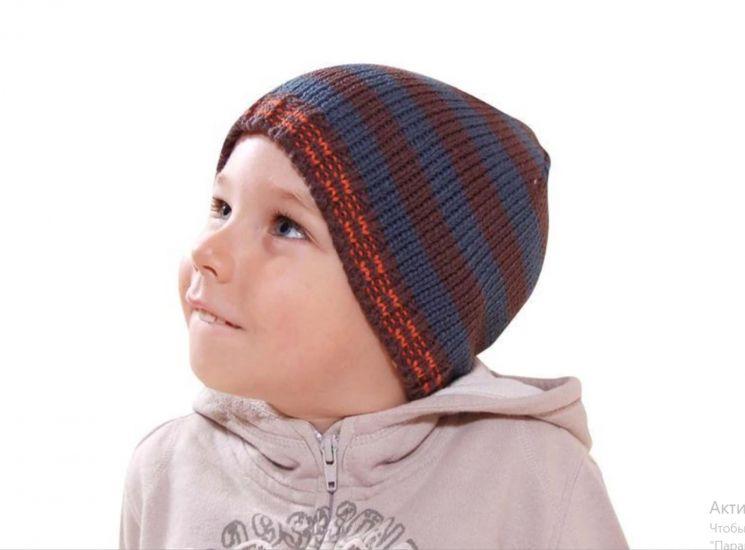 Демисезонная шапка для мальчика Bugga